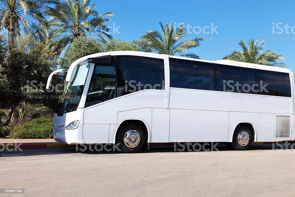 Tour Bus stock photo