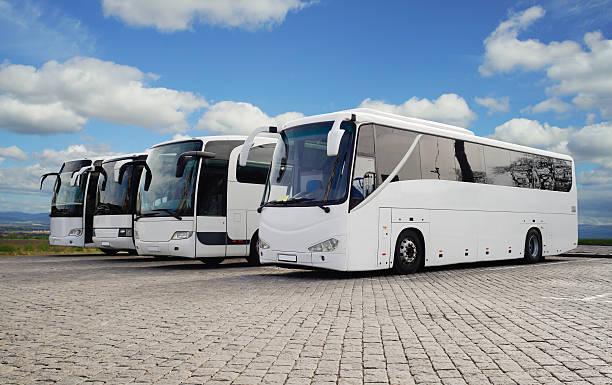 Tour Buses stock photo