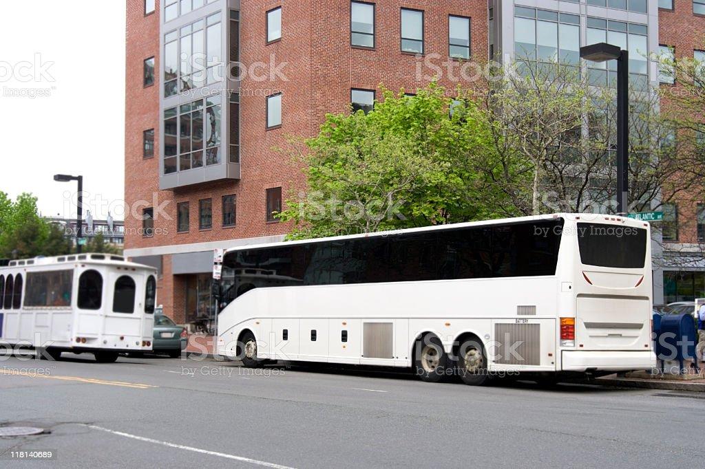 Tour Charter Bus royalty-free stock photo