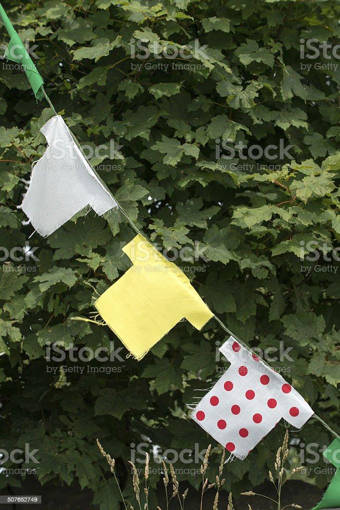 Tour de France Bunting - West Yorkshire stock photo