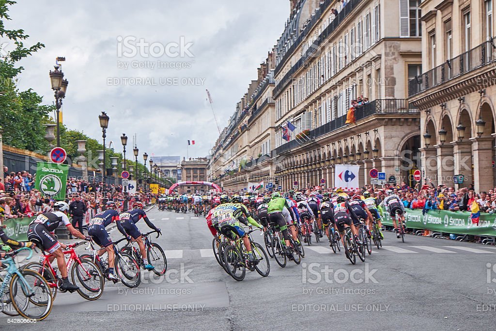 Tour De France Riders In Paris Stock Photo & More Pictures