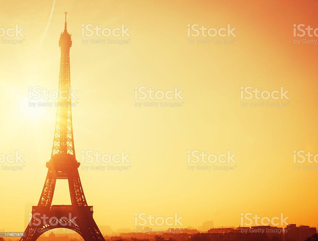 Tour Eiffel at dusk royalty-free stock photo