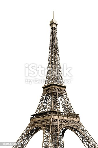 tour eiffel isolated on white background 3d illustration