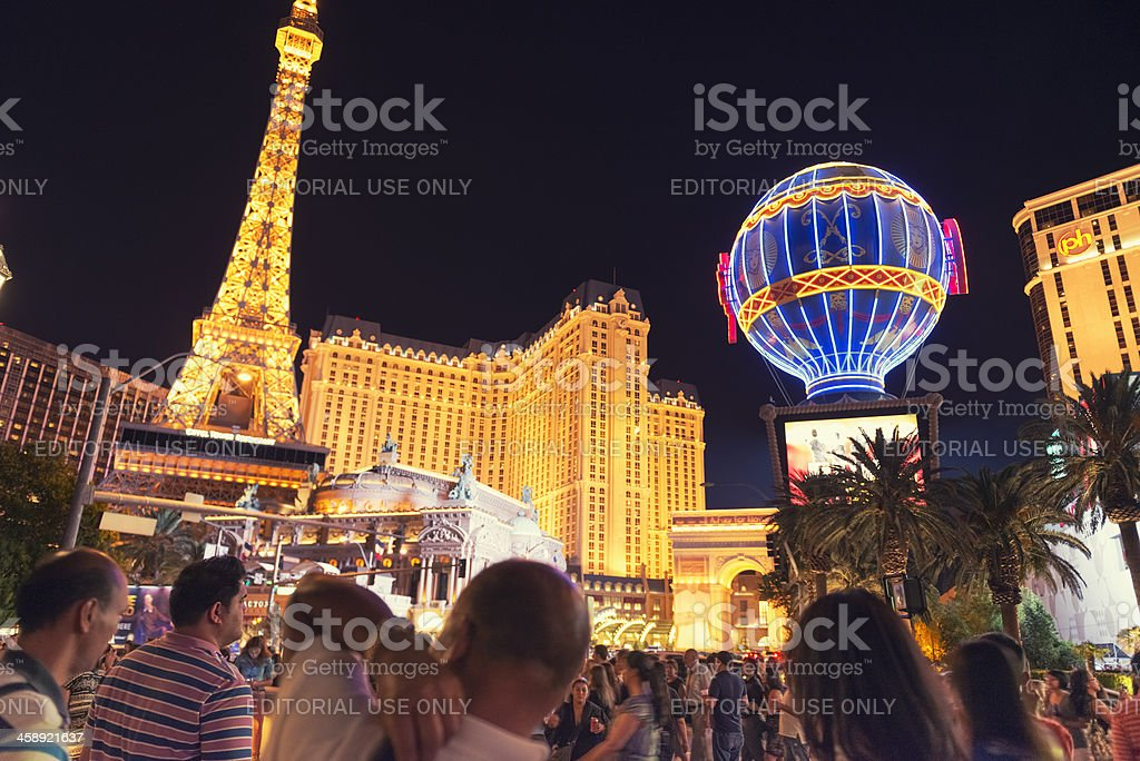 Tour Eiffel replica on Las Vegas Strip royalty-free stock photo