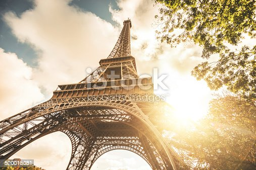 Tour eiffel tower at sunset