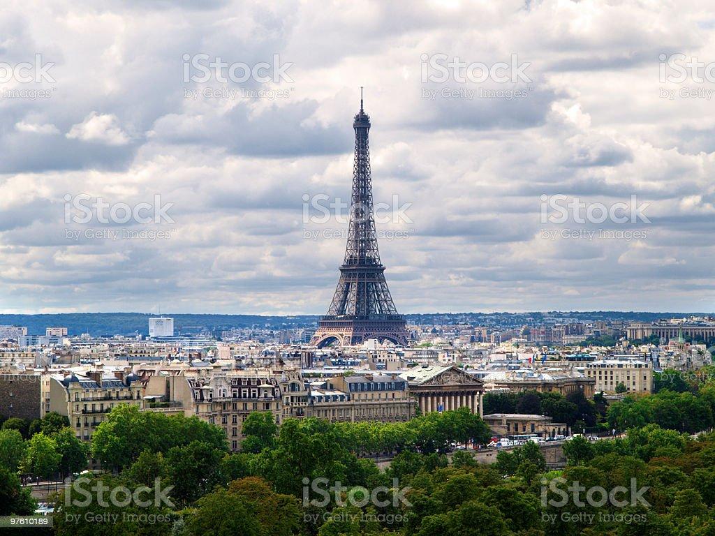 Tour Eiffel-París royaltyfri bildbanksbilder