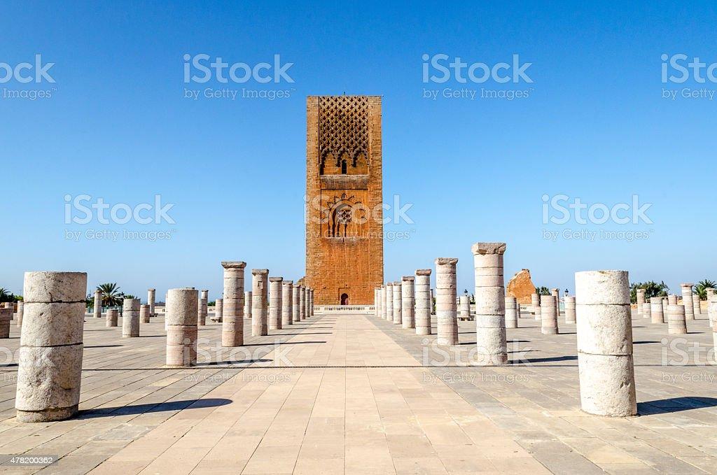 Tour Hassan, Rabat, Morocco stock photo