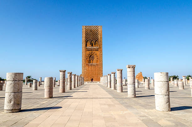 tour hassan, rabat, morocco - rabat marocko bildbanksfoton och bilder