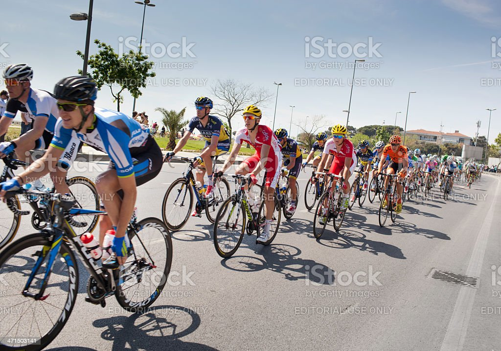 Tour of Istanbul 2013 Bicycle Race royalty-free stock photo