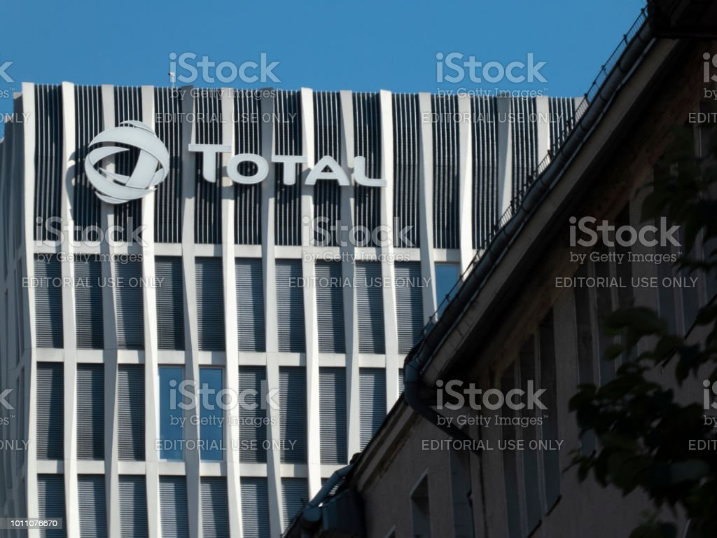 Tour Total Berlin skyscraper stock photo