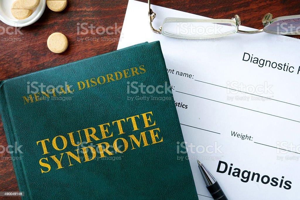 Tourette syndrome  concept. stock photo