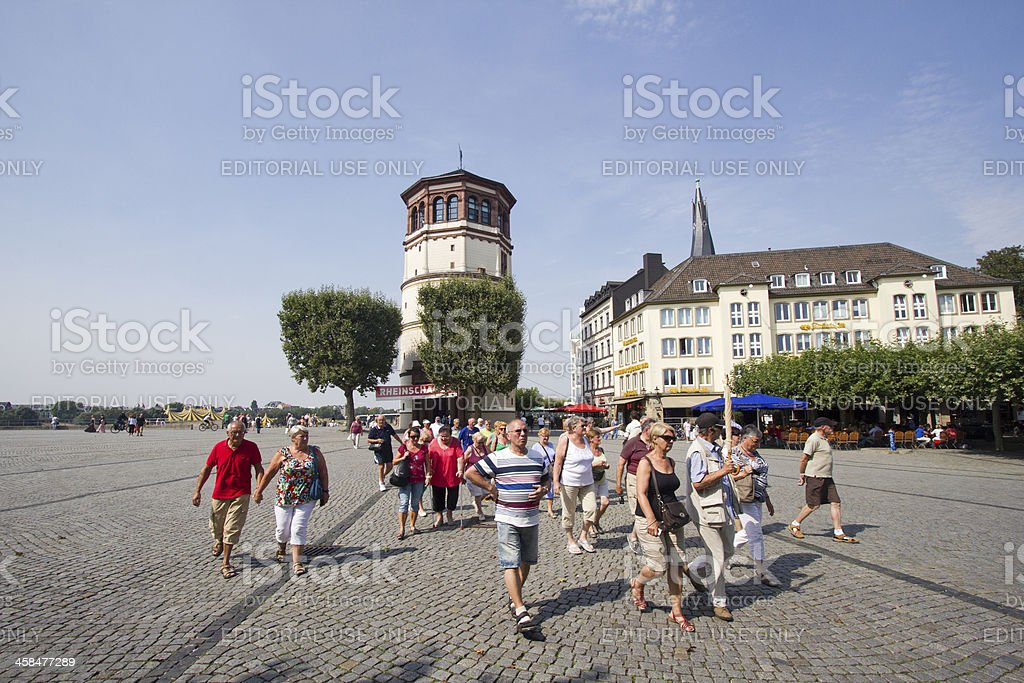 Tourgroup in Dusseldorf, Germany royalty-free stock photo