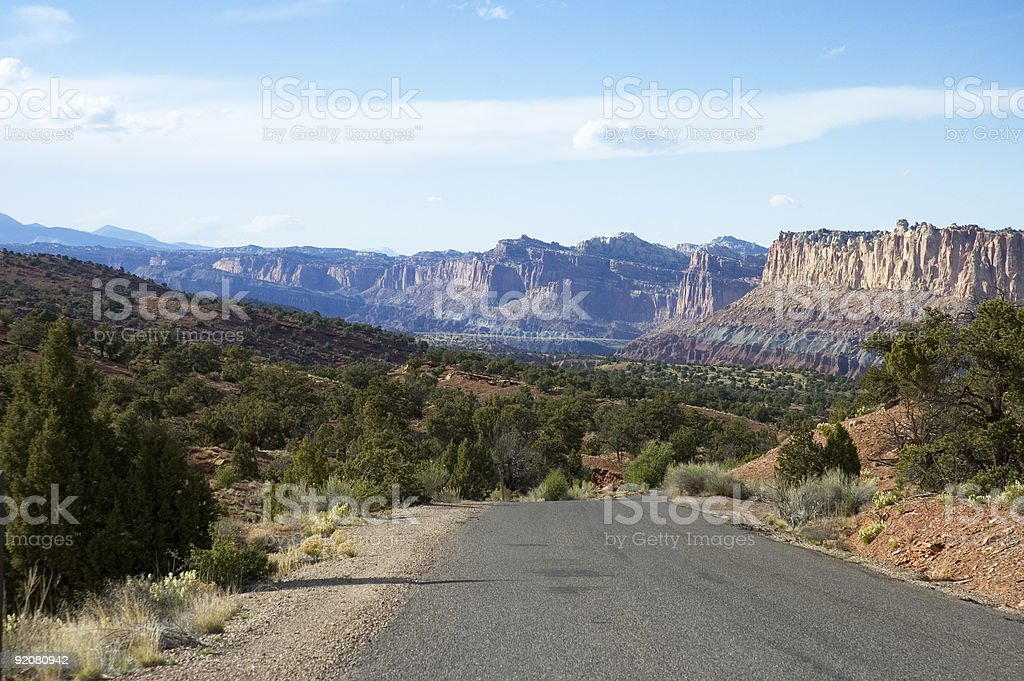 Touring Capitol Reef Park 4 stock photo