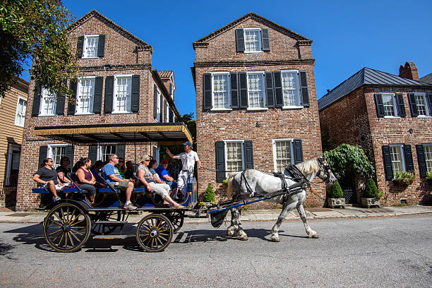 Touring historic Charleston, SC stock photo