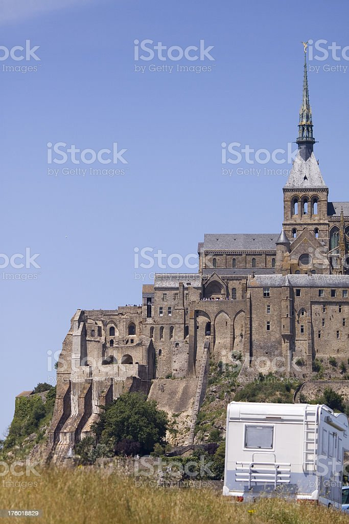 Touring in Normandy royalty-free stock photo