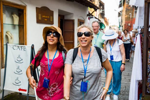 Touring India stock photo