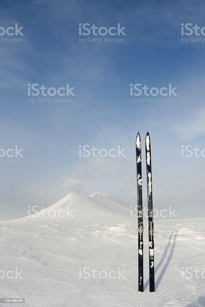 Touring skis stock photo