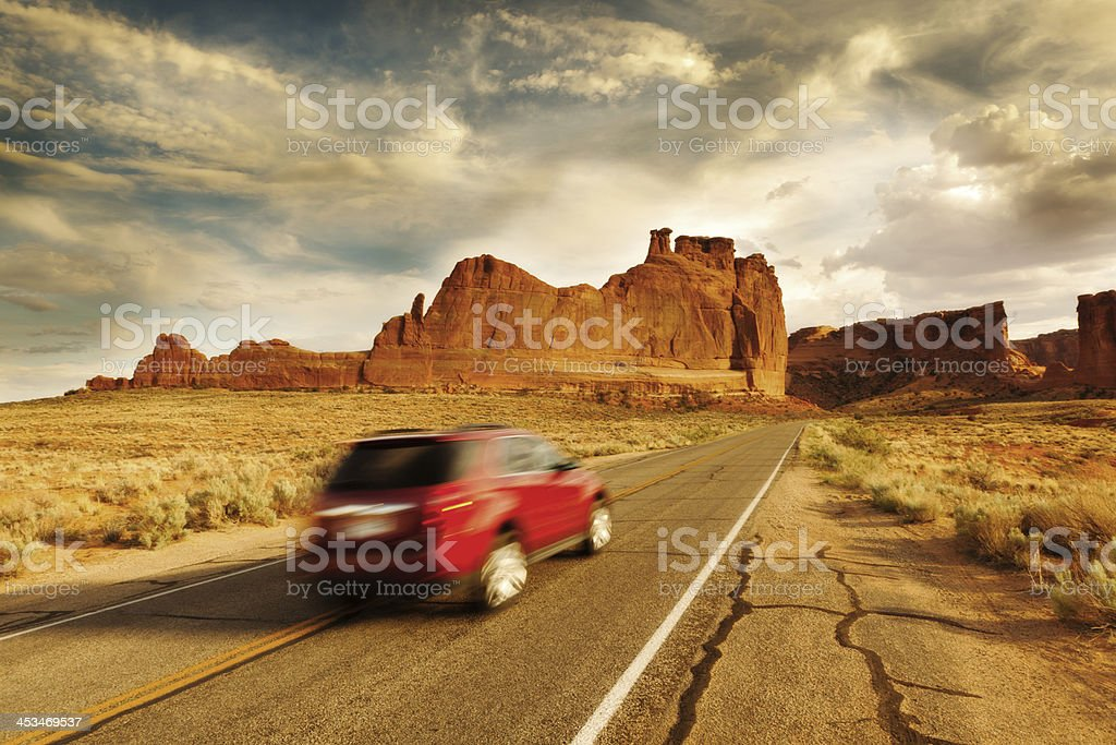 Touring the American Southwest Arches National Park stock photo
