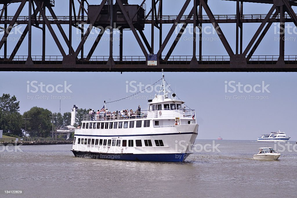 Touring the Cuyahoga royalty-free stock photo
