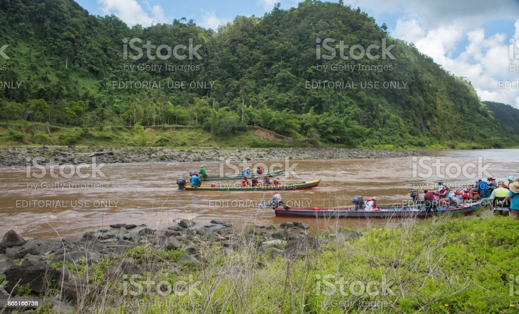 Touring the Navua River stock photo