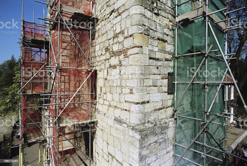 Tourism and construction works: Lendal Tower during restoration royalty-free stock photo