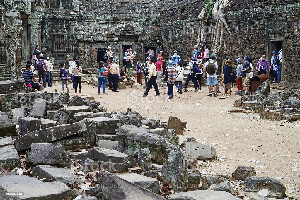 Tourism At Angkor Wat royalty-free stock photo
