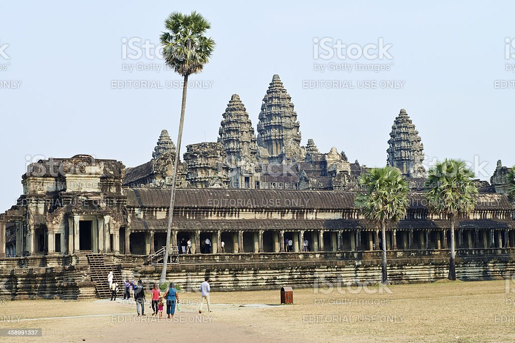 Tourism At Angkor Wat royalty-free stock photo