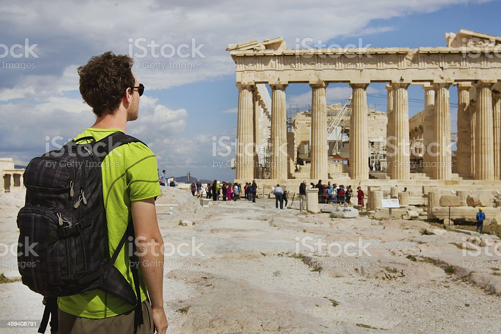 tourism in Greece stock photo