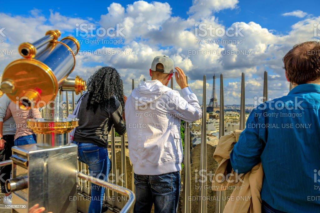 Tourism in Paris stock photo