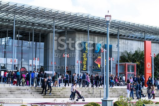 SAN FRANCISCO, USA - FEBRUARY 26, 2017: Entrance into the California Academy of Sciences, a natural history museum in San Francisco, California.