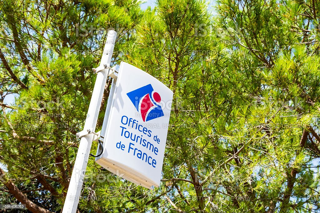 Tourism Office Sign France stock photo