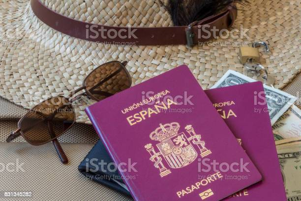 Tourism travel concept female hat sunglasses money and passports picture id831345282?b=1&k=6&m=831345282&s=612x612&h=kqerhw0r6cvemxczinfm rdhxnngaq5rhdxhdhx06ju=