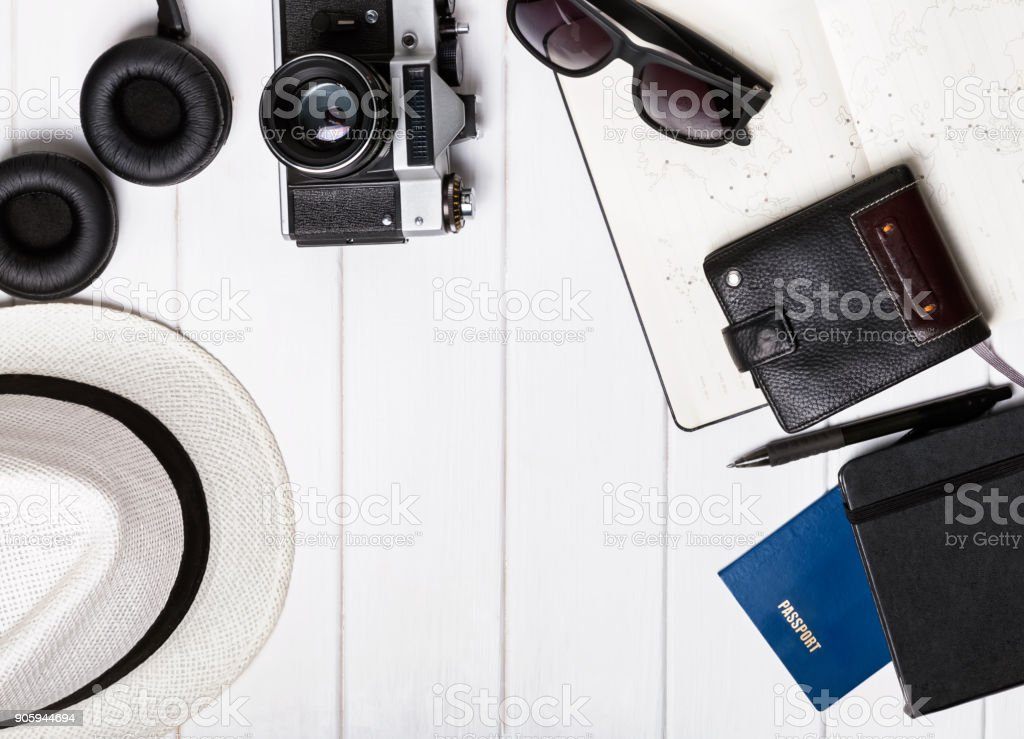 Tourist accesories stock photo