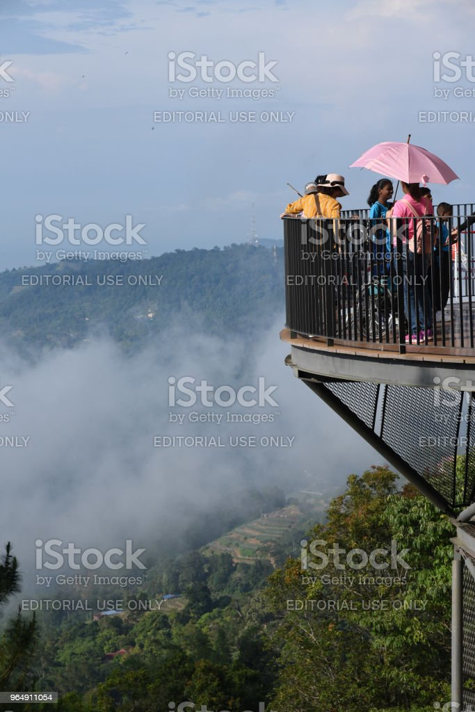 Tourist at Penang Hill, Malaysia royalty-free stock photo