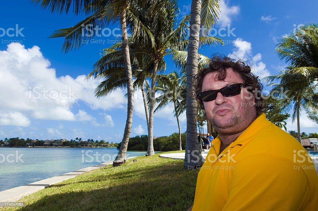 Tourist at the caribbean stock photo