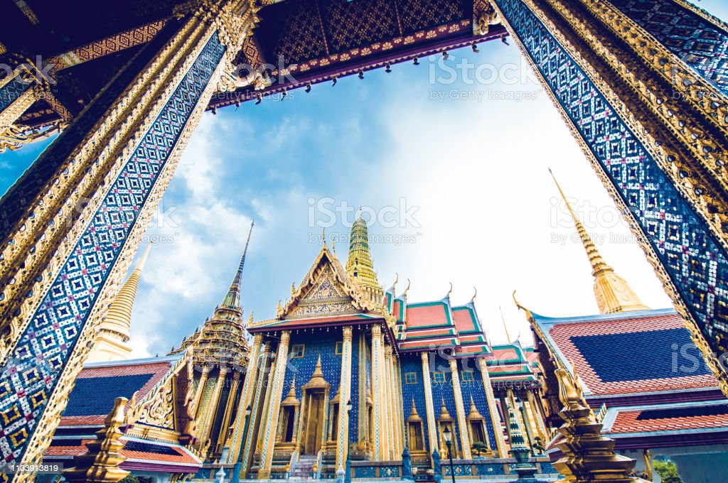 Sculpture Grand palace also called Wat Phra Kaew in Bangkok, Thailand