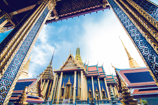 Tourist Attraction: Sculpture Grand palace also called Wat Phra Kaew in Bangkok, Thailand Tourist Attraction: Sculpture Grand palace also called Wat Phra Kaew in Bangkok, Thailand indochina stock pictures, royalty-free photos & images