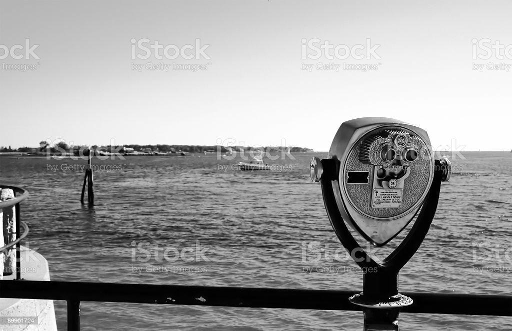 Tourist Binocuars B/W stock photo