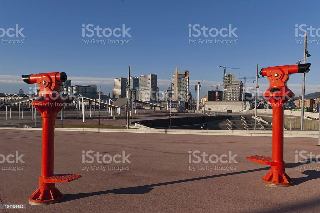 Tourist Binocular stock photo
