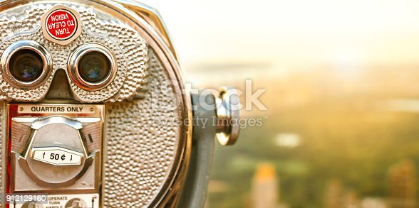 istock Tourist binoculars at New York City with Central Park on background 912129160