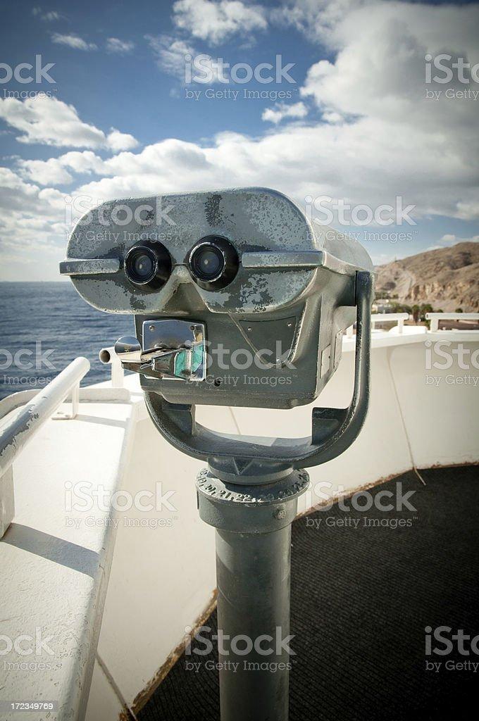 Tourist binoculars royalty-free stock photo
