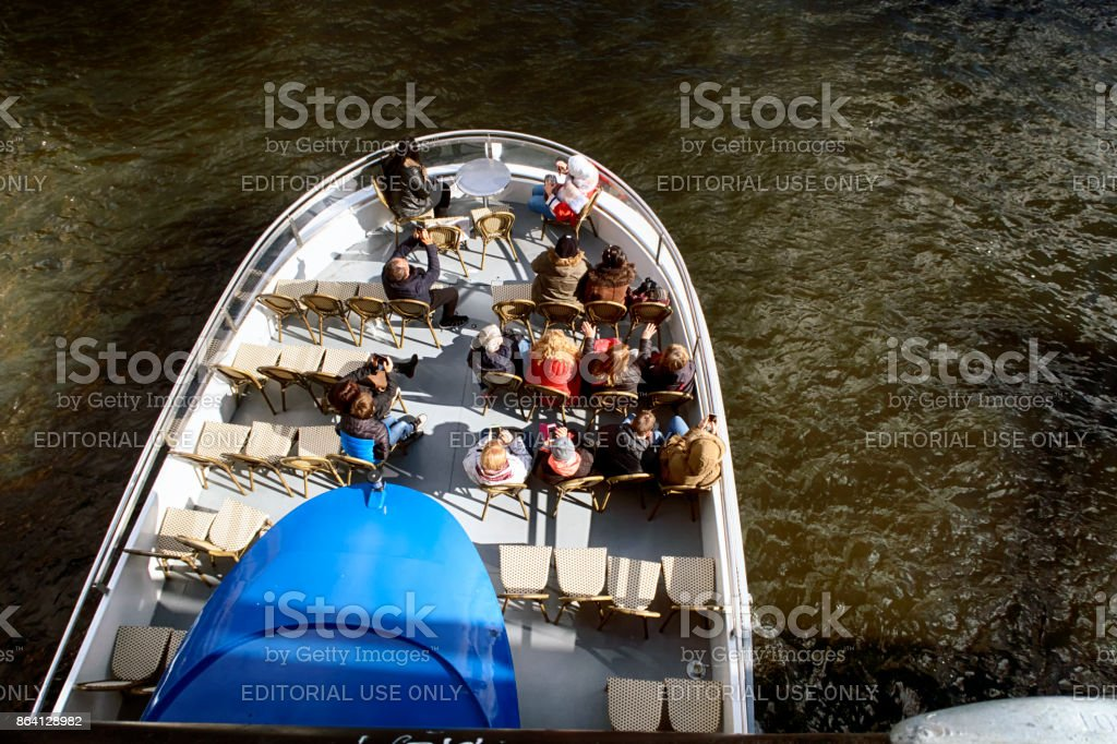 Tourist boat in Berlin royalty-free stock photo