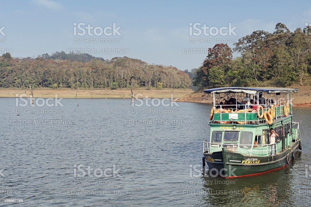 Tourist boat on Lake Periyar royalty-free stock photo