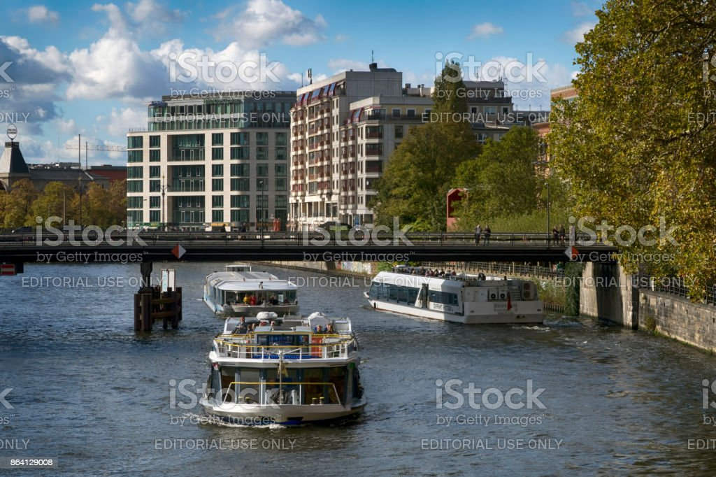 Tourist boats in Berlin royalty-free stock photo