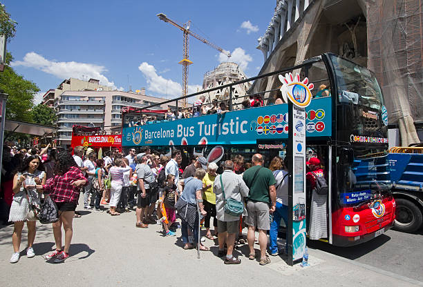 Touristen-bus in Barcelona, Spanien – Foto