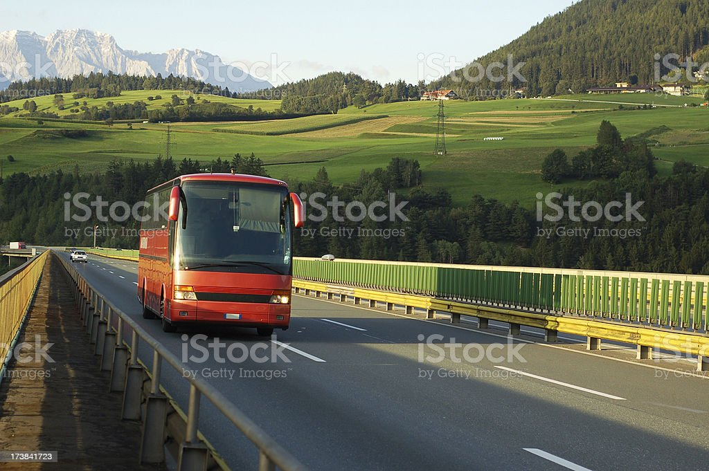 tourist bus stock photo
