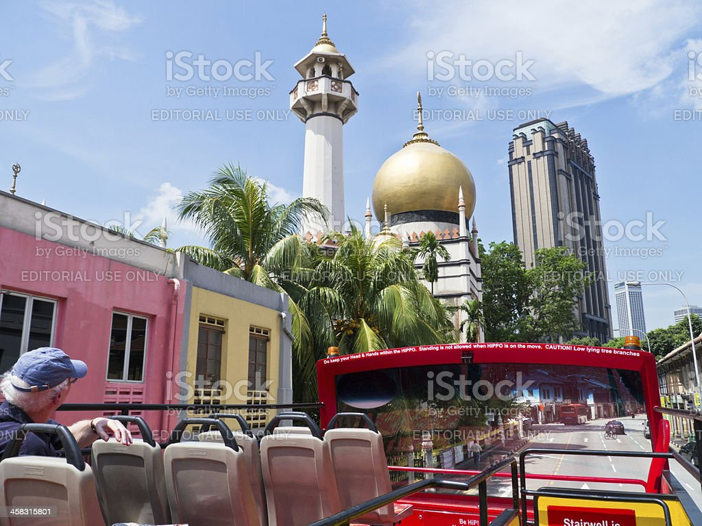 Tourist Bus - Singapore stock photo