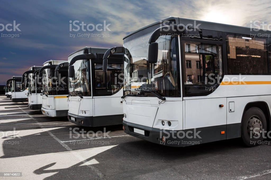 Bussen auf Parken – Foto