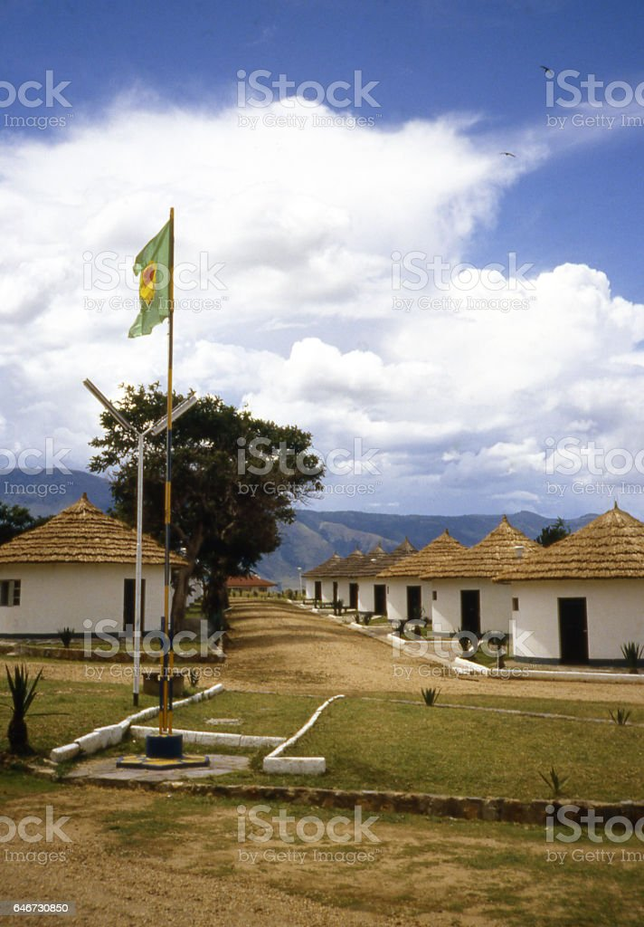 Tourist camp Zaire under Mobutu Virunga National Park Democratic Republic Congo Africa stock photo