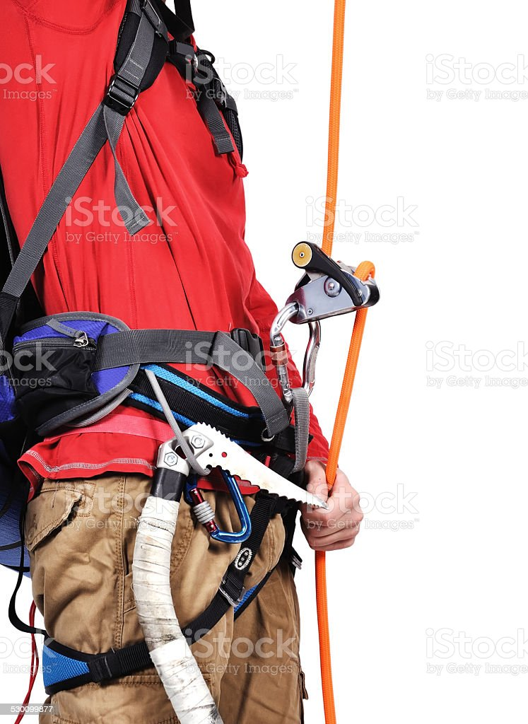 tourist  climbing stock photo